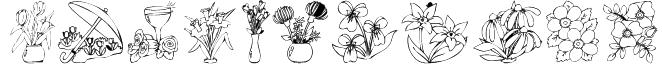 KR Bloom Bonanza Font