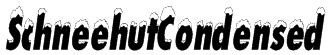 SchneehutCondensed Font