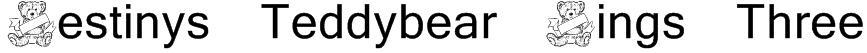 Destinys Teddybear Dings Three Font