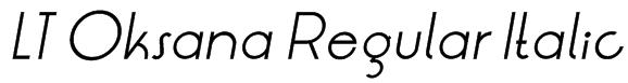 LT Oksana Regular Italic Font
