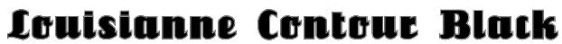 Louisianne Contour Black Font