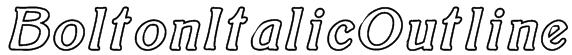 BoltonItalicOutline Font