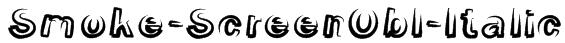 Smoke-ScreenObl-Italic Font