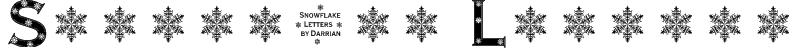 Snowflake Letters Font
