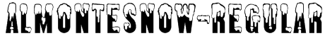 AlmonteSnow-Regular Font
