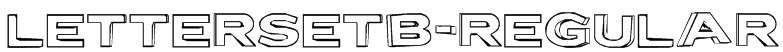 LetterSetB-Regular Font