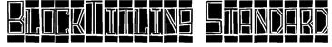 BlockTitling Standard Font
