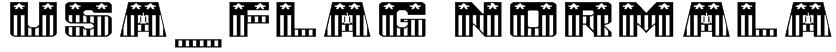 USA_Flag NormalA Font