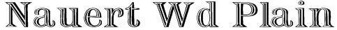 Nauert Wd Plain Font