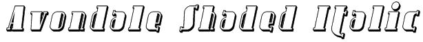 Avondale Shaded Italic Font