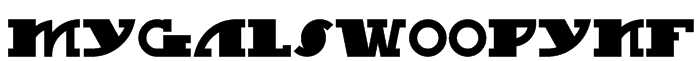MyGalSwoopyNF Font