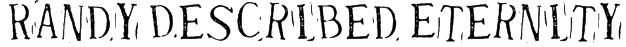 Randy Described Eternity Font