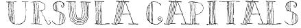 Ursula Capitals Font