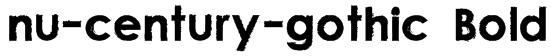 nu-century-gothic Bold Font