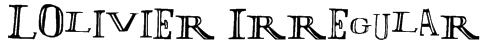 LOlivier Irregular Font