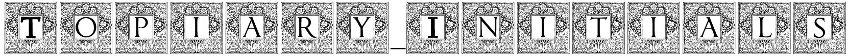 Topiary_Initials Font