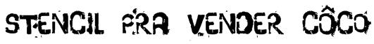 stencil pra vender côco Font