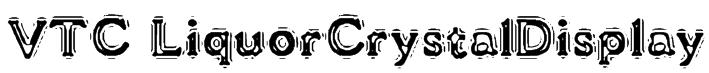 VTC LiquorCrystalDisplay Font