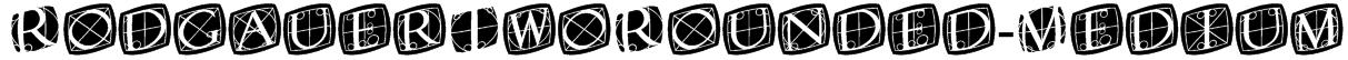 RodgauerTwoRounded-Medium Font