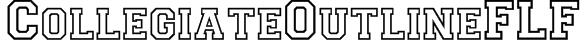 CollegiateOutlineFLF Font