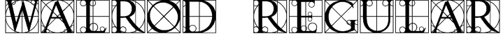Walrod Regular Font