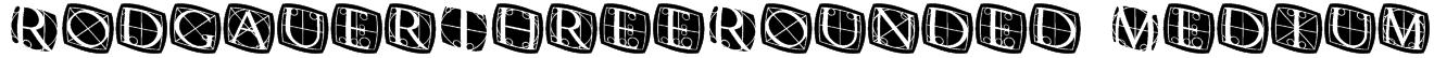 RodgauerThreeRounded Medium Font