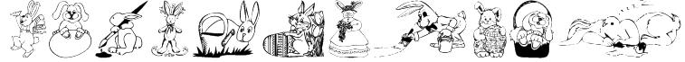 KR Easter Bunnies Font