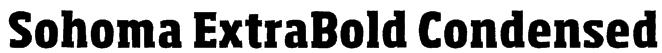 Sohoma ExtraBold Condensed Font