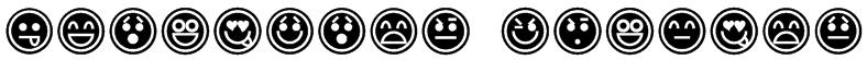 Emoticons Outline Font