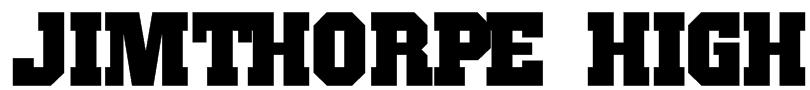 JimThorpe High Font