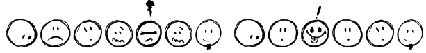 Sketchy Smiley Font