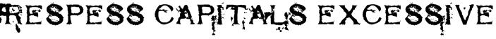 Respess Capitals Excessive Font