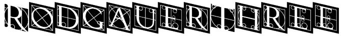 RodgauerThree Font