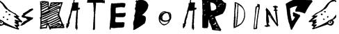 (skateboarding) Font