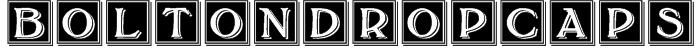 BoltonDropCaps Font