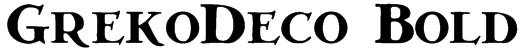 GrekoDeco Bold Font