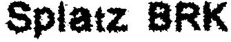 Splatz BRK Font