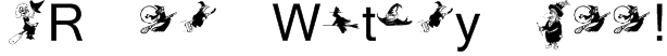 KR Oh Witchy Poo! Font