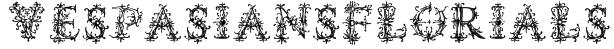 VespasiansFlorials Font