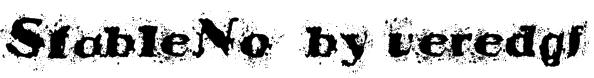 StableNo  by veredgf Font