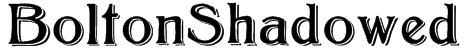 BoltonShadowed Font