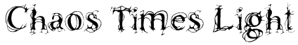 Chaos Times Light Font
