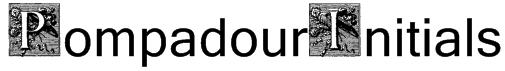PompadourInitials Font