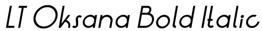 LT Oksana Bold Italic Font