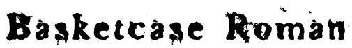 Basketcase Roman Font