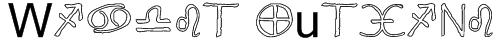 Widget Outline Font