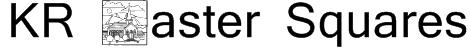 KR Easter Squares Font