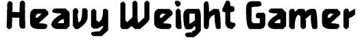 Heavy Weight Gamer Font