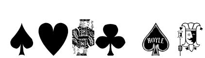 Hoyle Playing Cards Font