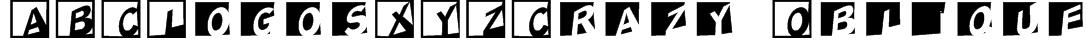 ABCLogosXYZCrazy-Oblique Font